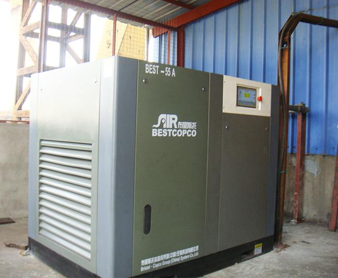 布里斯托乐雁金属制品有限公司无油空压机安装调试案例