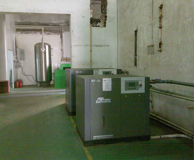 布里斯托为扬州著名纺织品公司提供空压机整机服务案例